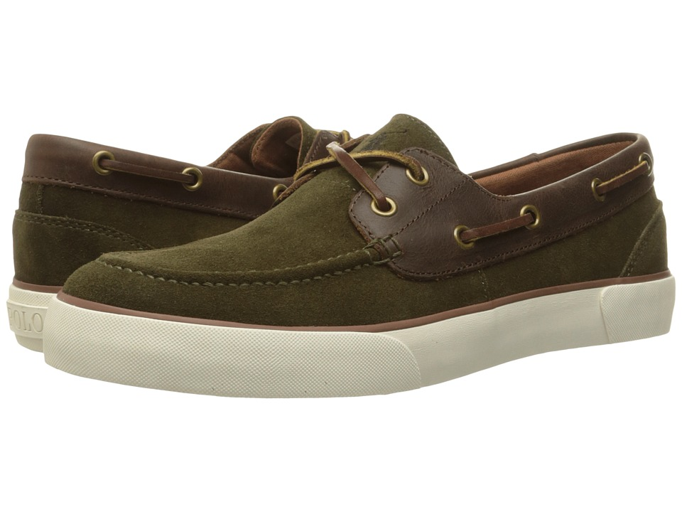 Polo Ralph Lauren Rylander (Deep Olive/Tan Sport Suede/Smooth Oil Leather) Men
