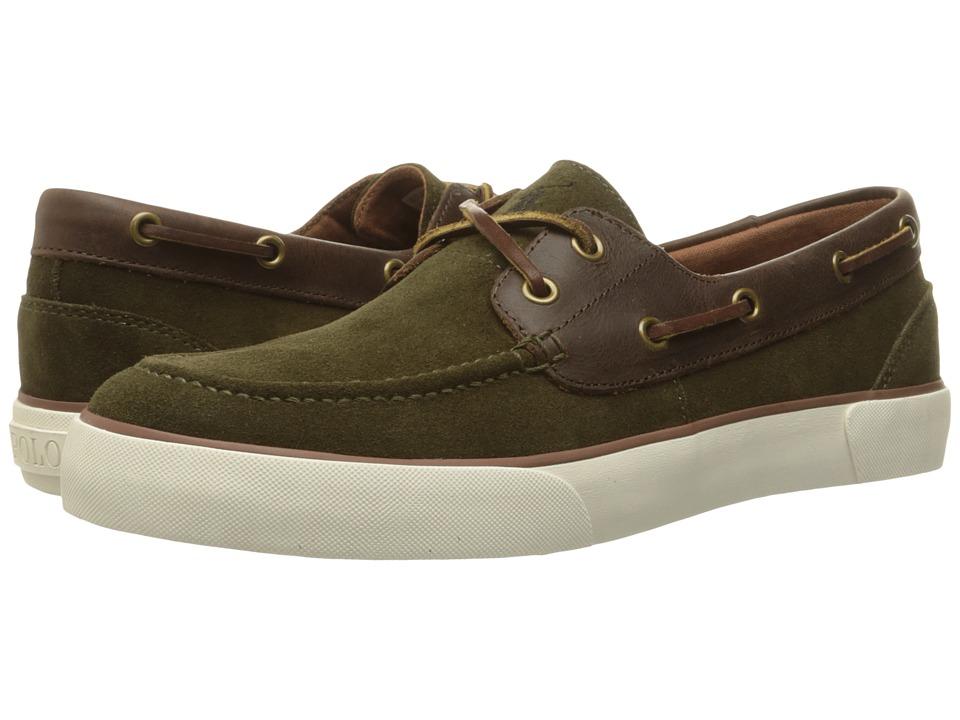 Polo Ralph Lauren - Rylander (Deep Olive/Tan Sport Suede/Smooth Oil Leather) Men's Shoes