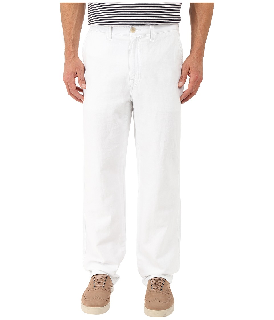 Nautica - Linen Cotton Pants (Bright White) Men's Clothing