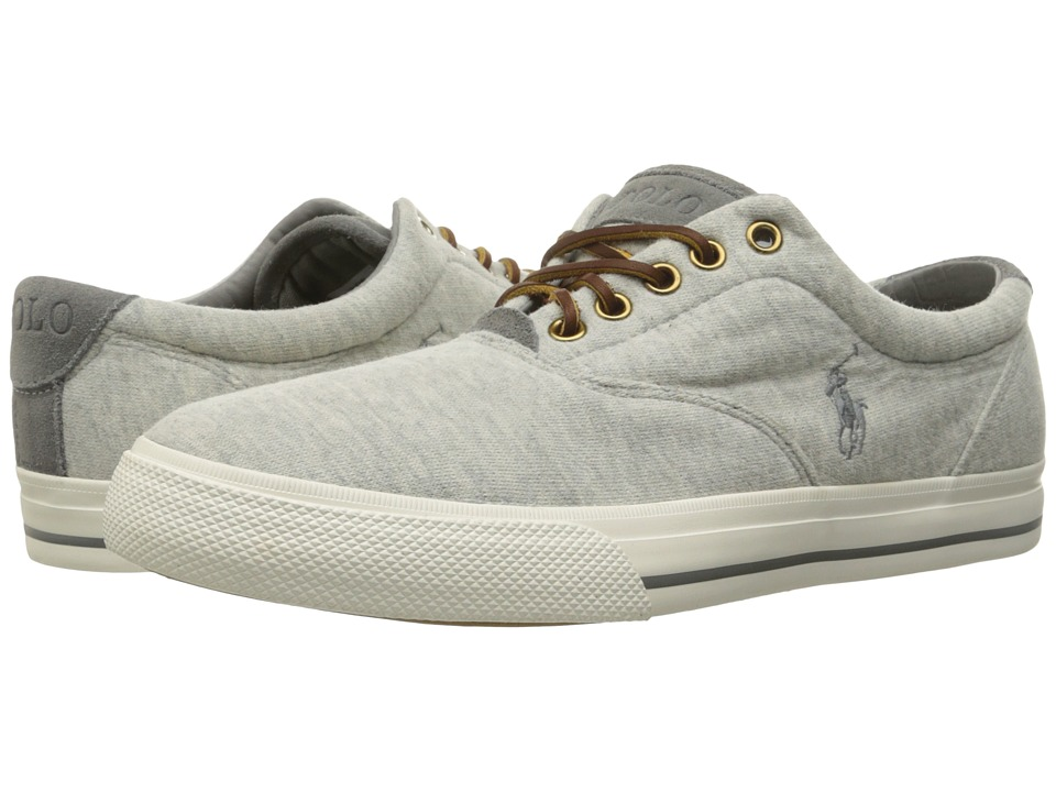 Polo Ralph Lauren - Vaughn (Light Grey Heather Sweatshirt Fleece) Men's Lace up casual Shoes