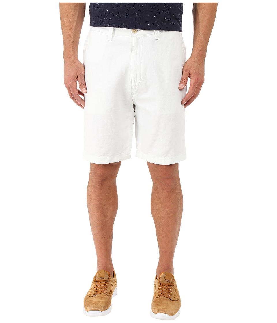 Nautica - Deck Linen/Cotton Shorts (Bright White) Men's Shorts