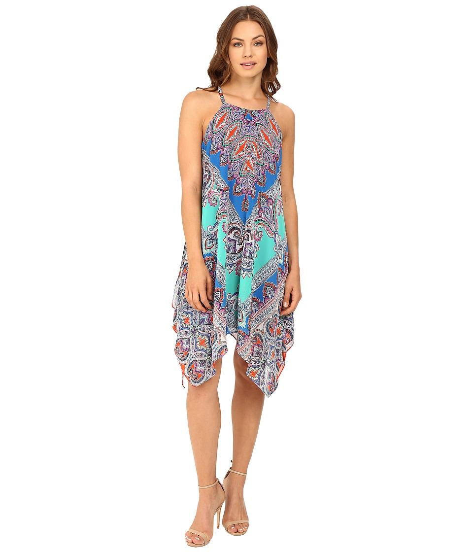Christin Michaels - Niama Woven Dress (Jade/Royal) Women's Dress