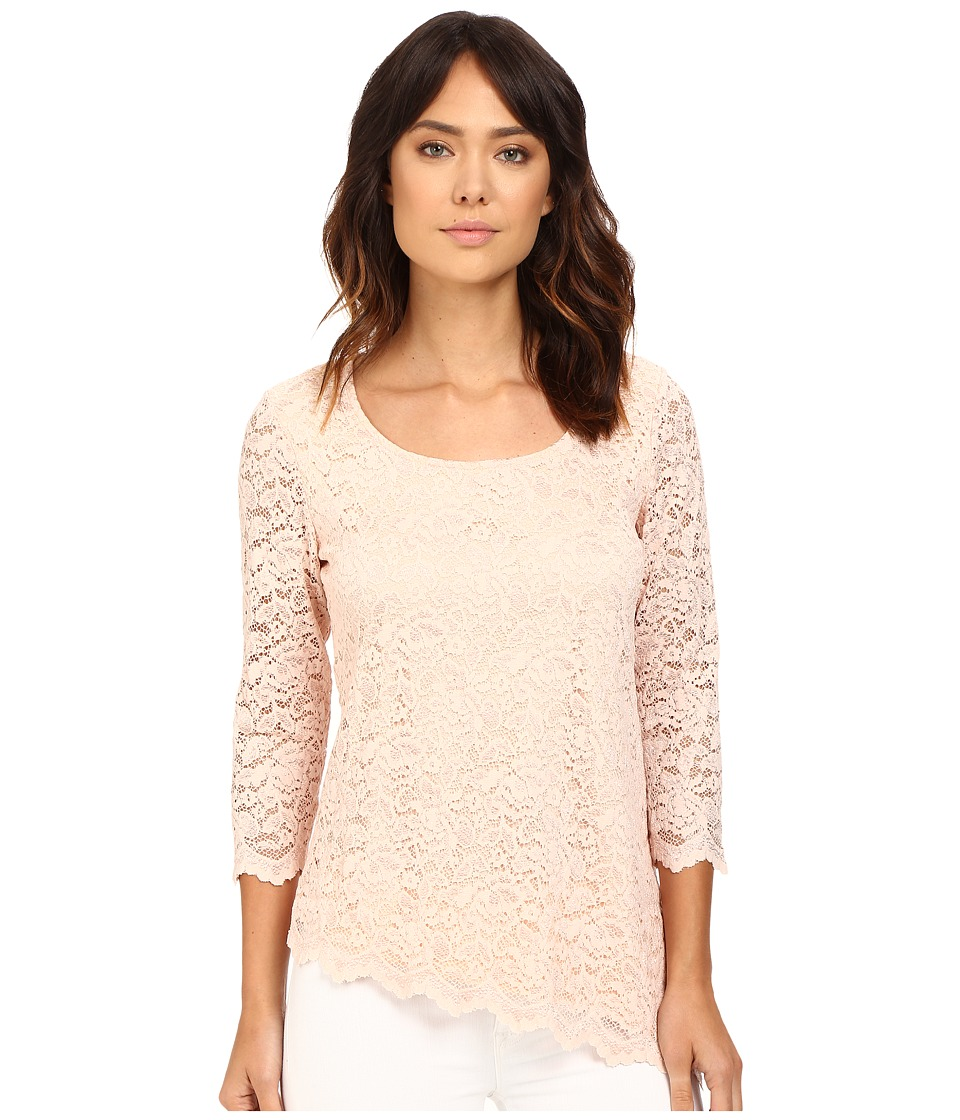 rsvp - Caitrin Top w/ Scalloped Hem (Blush) Women's Clothing
