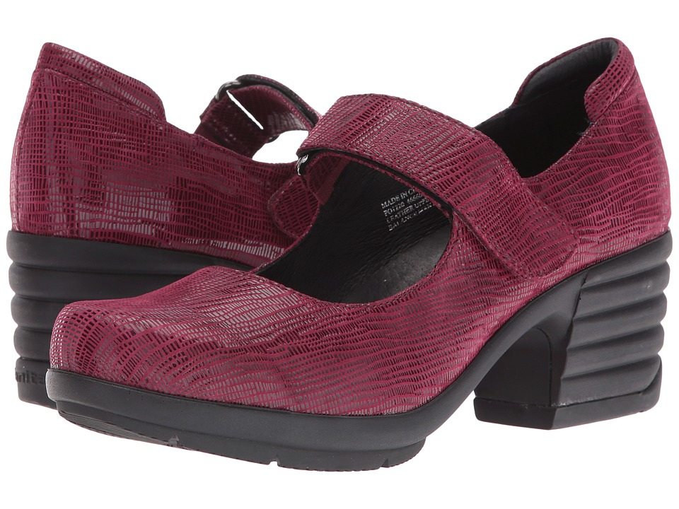 Sanita - Icon Commuter (Burgundy Printed Suede) Women's Shoes