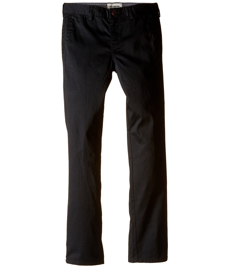 Billabong Kids - Carter Slim Fit Chino Pants (Big Kids) (Black) Boy's Casual Pants