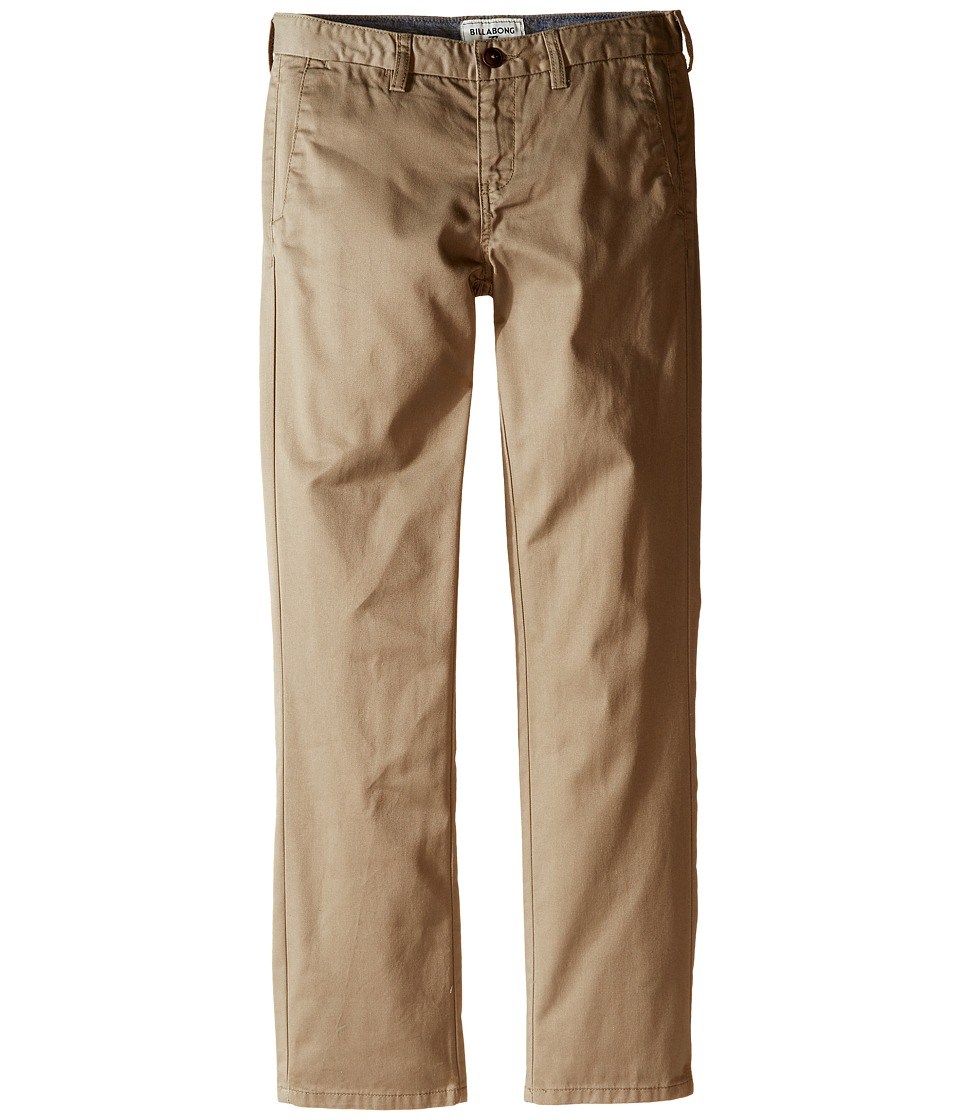 Billabong Kids - Carter Slim Fit Chino Pants (Big Kids) (Dark Khaki) Boy's Casual Pants