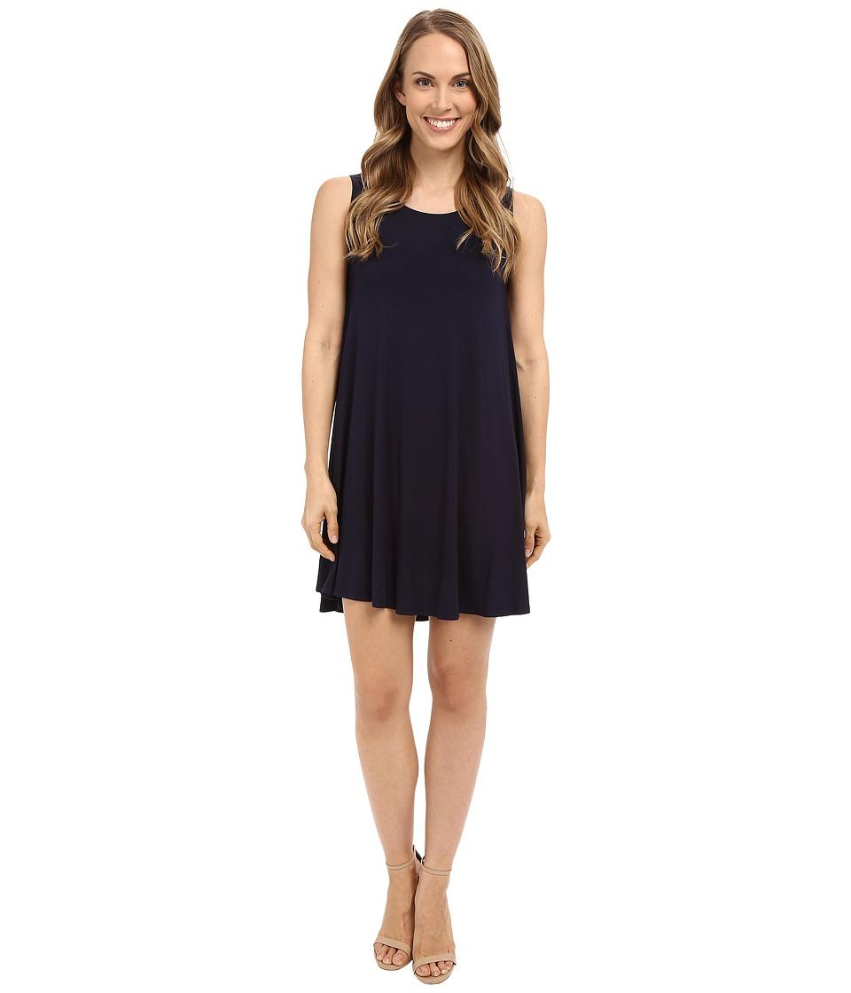 Karen Kane - Sleeveless Maggie Trapeze Dress (Navy) Women's Dress
