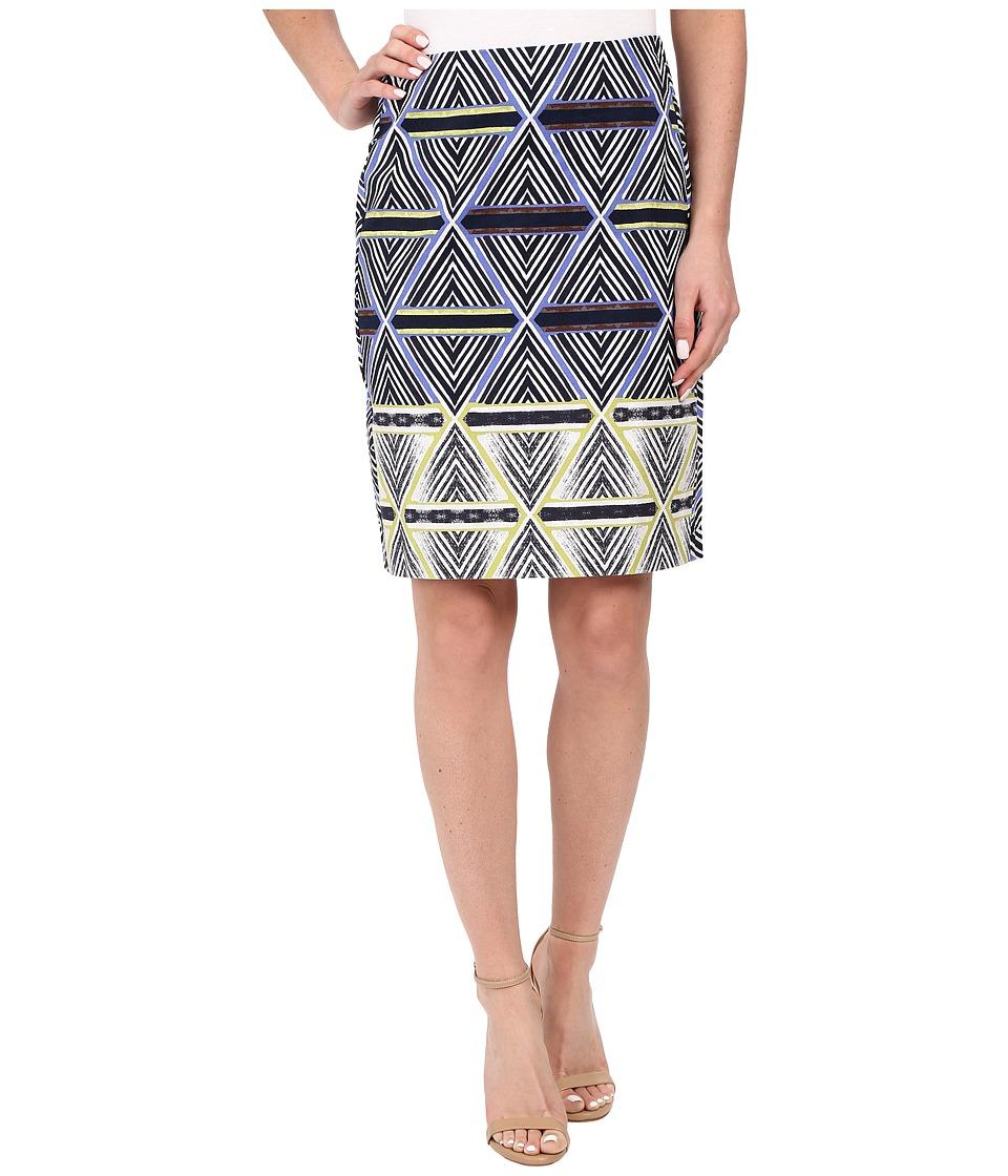 NIC+ZOE Geo Slim Skirt (Multi) Women