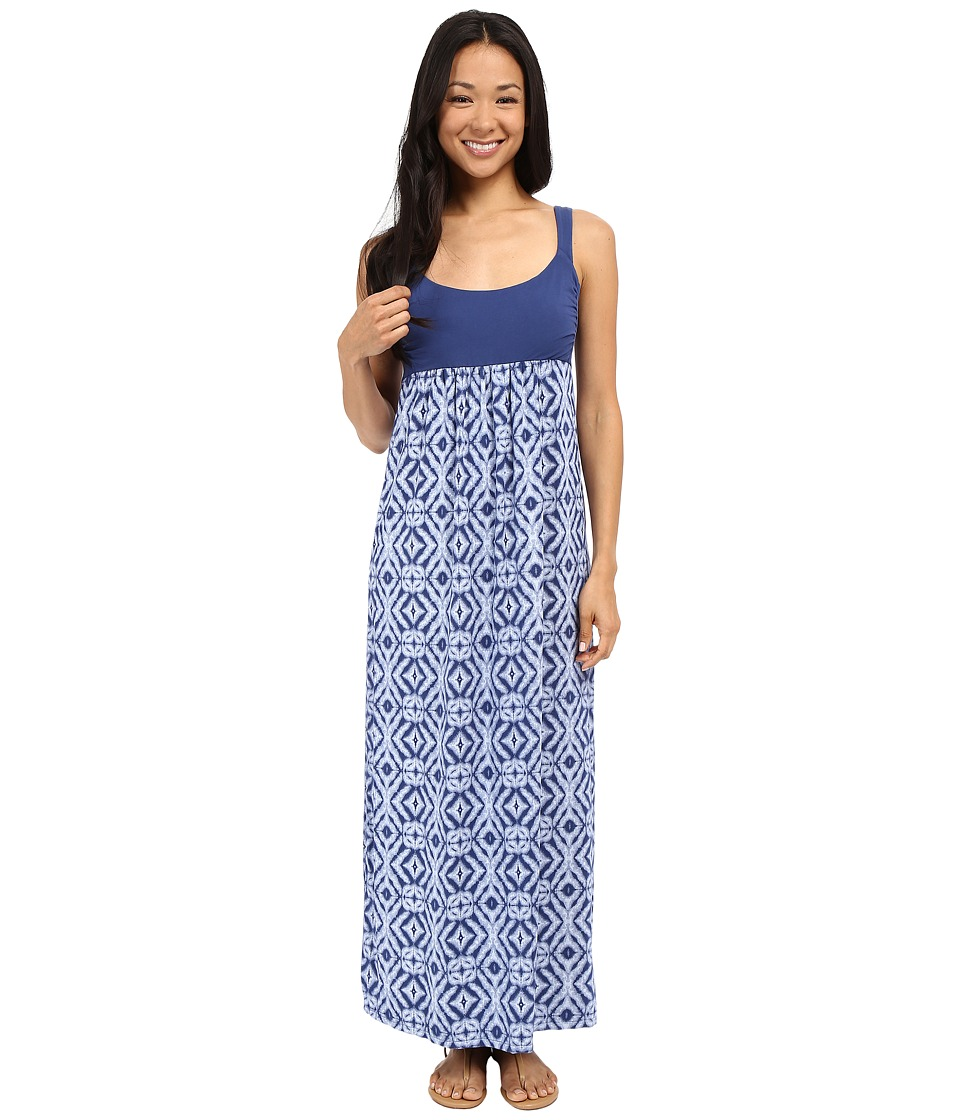 Fresh Produce - Shibori Malibu Maxi Dress (Moonlight Blue) Women's Dress