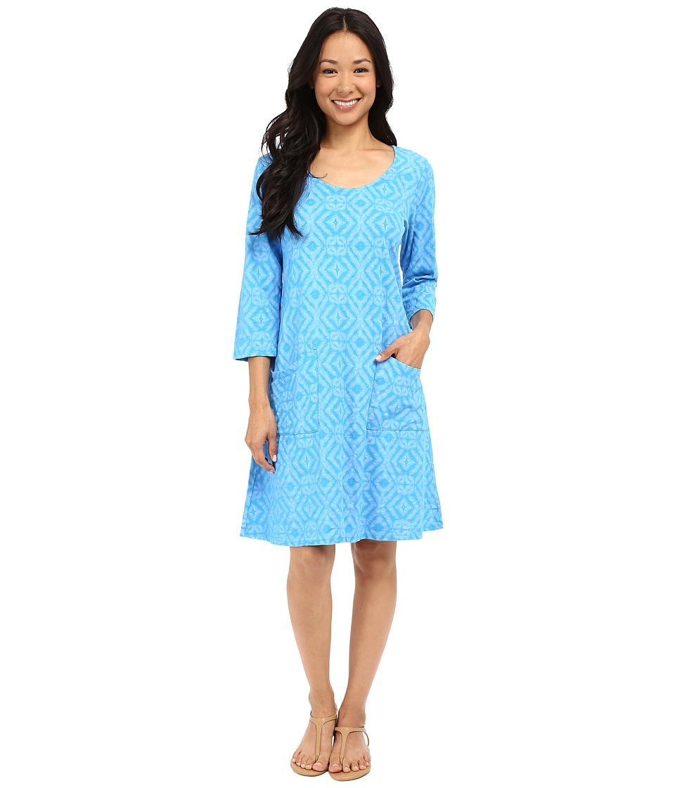 Fresh Produce - Shibori Dalia Dress (Marina Blue) Women's Dress