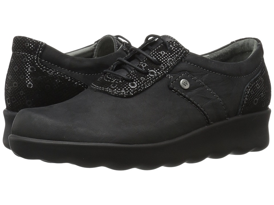 Wolky - Nido (Black Cartagena) Women's Lace up casual Shoes
