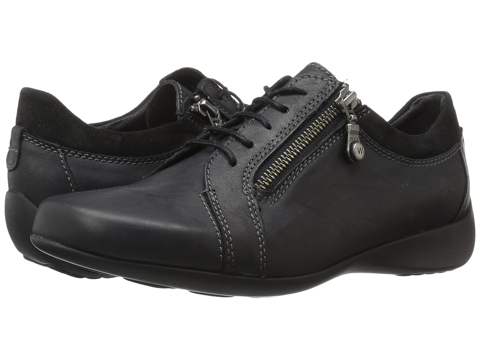 Wolky - Bonnie (Black Leather) Women's Lace up casual Shoes
