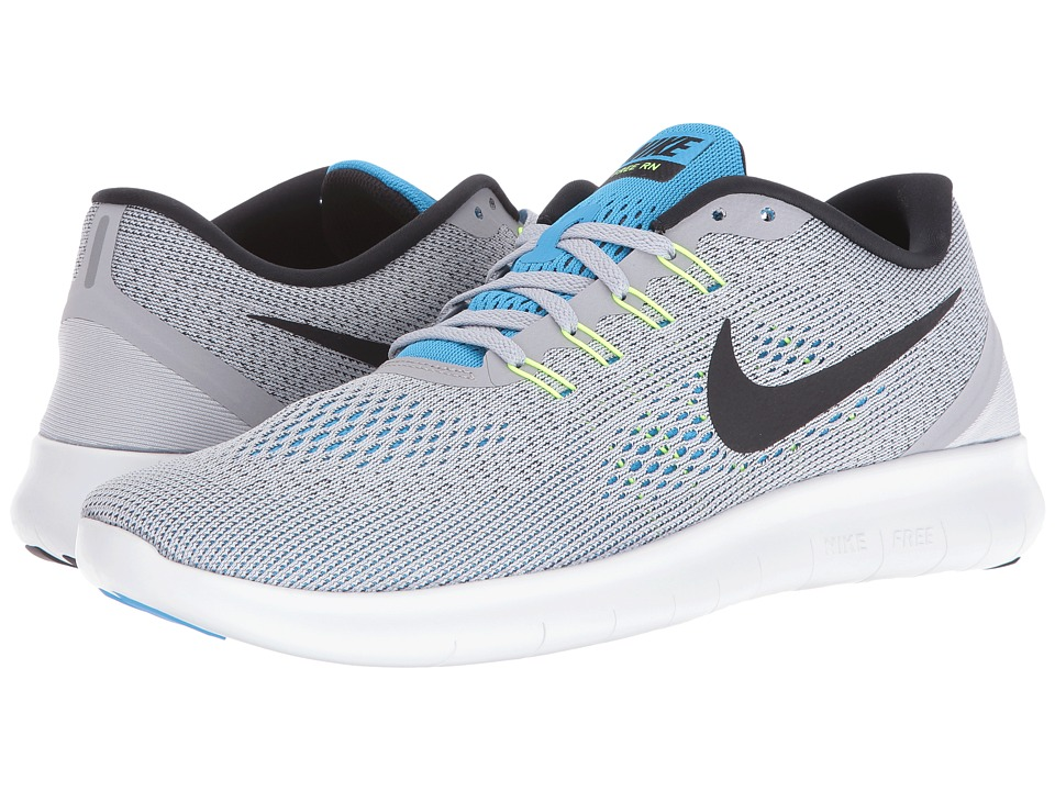 Nike - Free RN (Wolf Grey/Blue Glow/Volt/Black) Men's Running Shoes