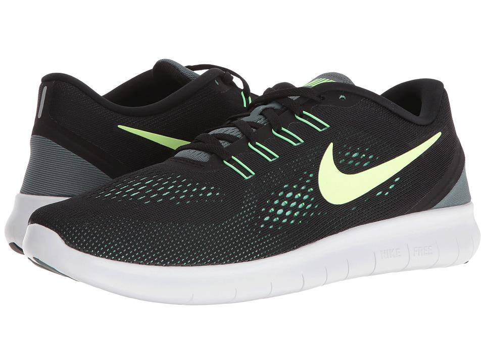 Nike - Free RN (Black/Hasta/Green Glow/Ghost Green) Men's Running Shoes