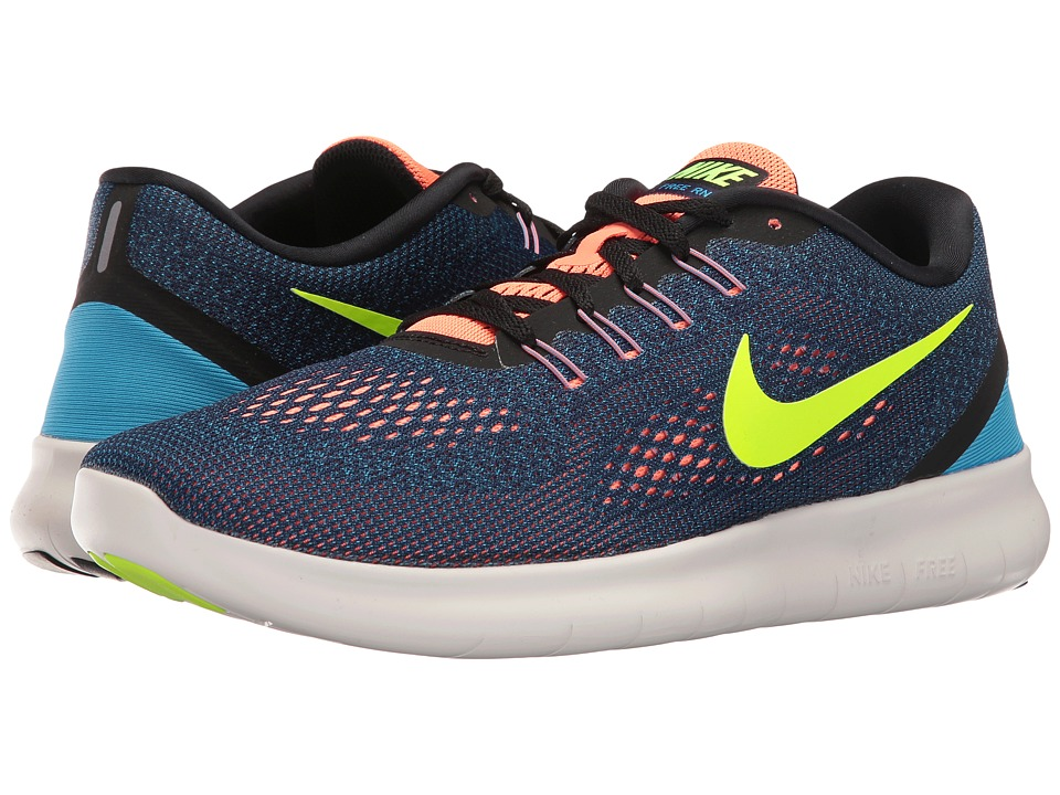 Nike - Free RN (Purple Dynasty/Black/Bright Mango/Volt) Men's Running Shoes
