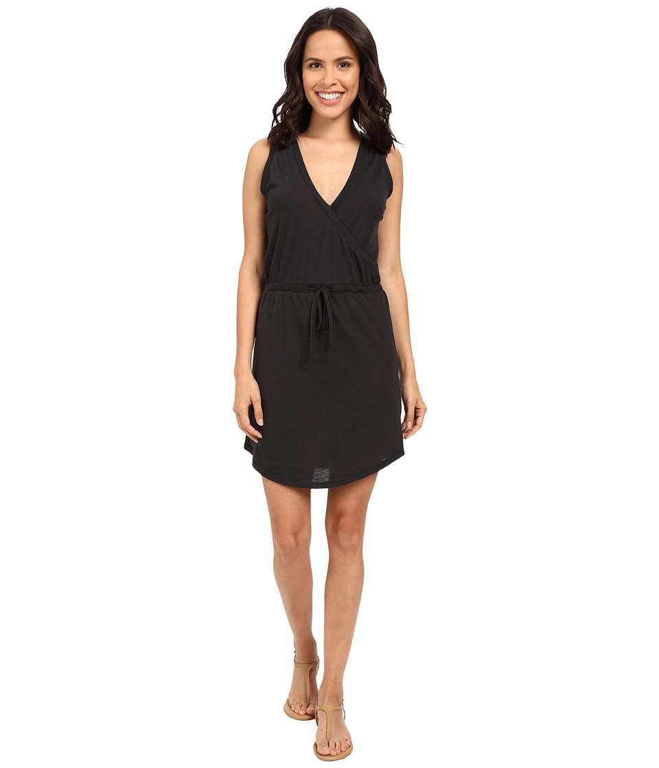 Alternative - Waist Tie Mini Dress (Eco True Black) Women's Dress