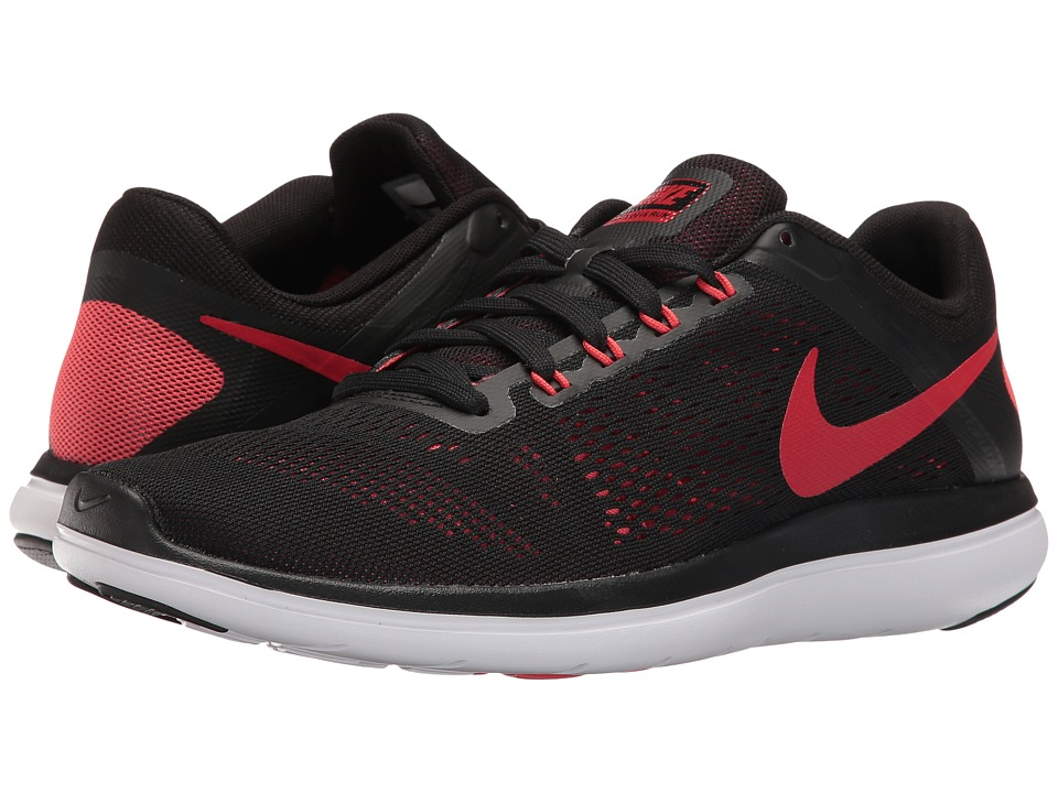 Nike - Flex 2016 RN (Black/Ember Glow/White/University Red) Men's Running Shoes