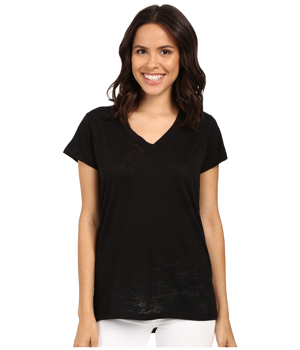 Alternative - Ideal V-Neck (Black) Women's Short Sleeve Pullover