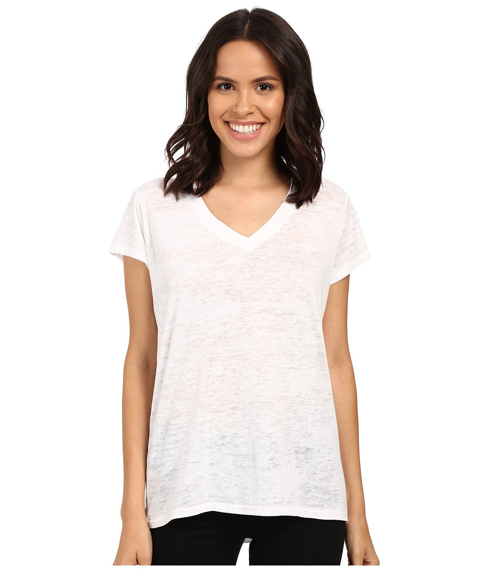 Alternative - Ideal V-Neck (White) Women's Short Sleeve Pullover