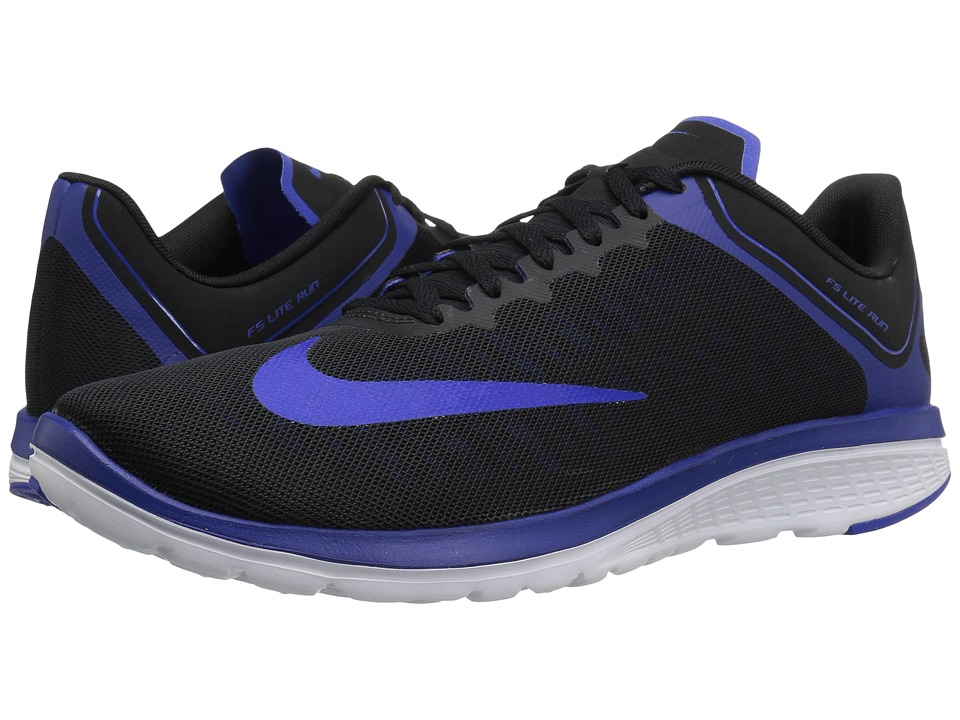 Nike - FS Lite Run 4 (Black/Racer Blue/Deep Royal Blue/White) Men's Running Shoes