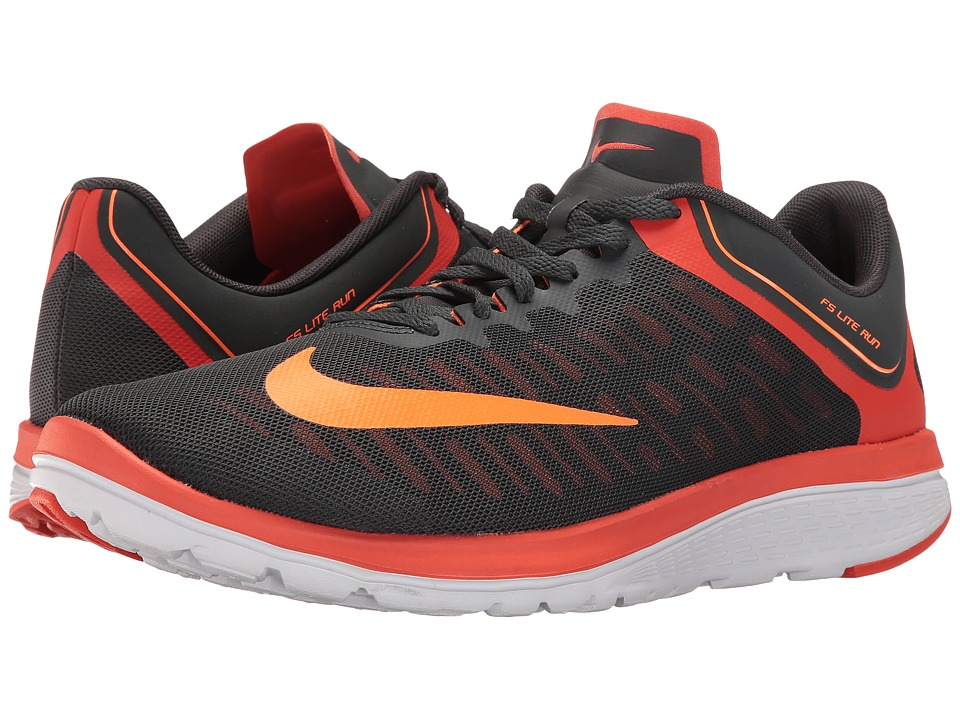 Nike - FS Lite Run 4 (Anthracite/Total Orange/Team Orange/White) Men's Running Shoes
