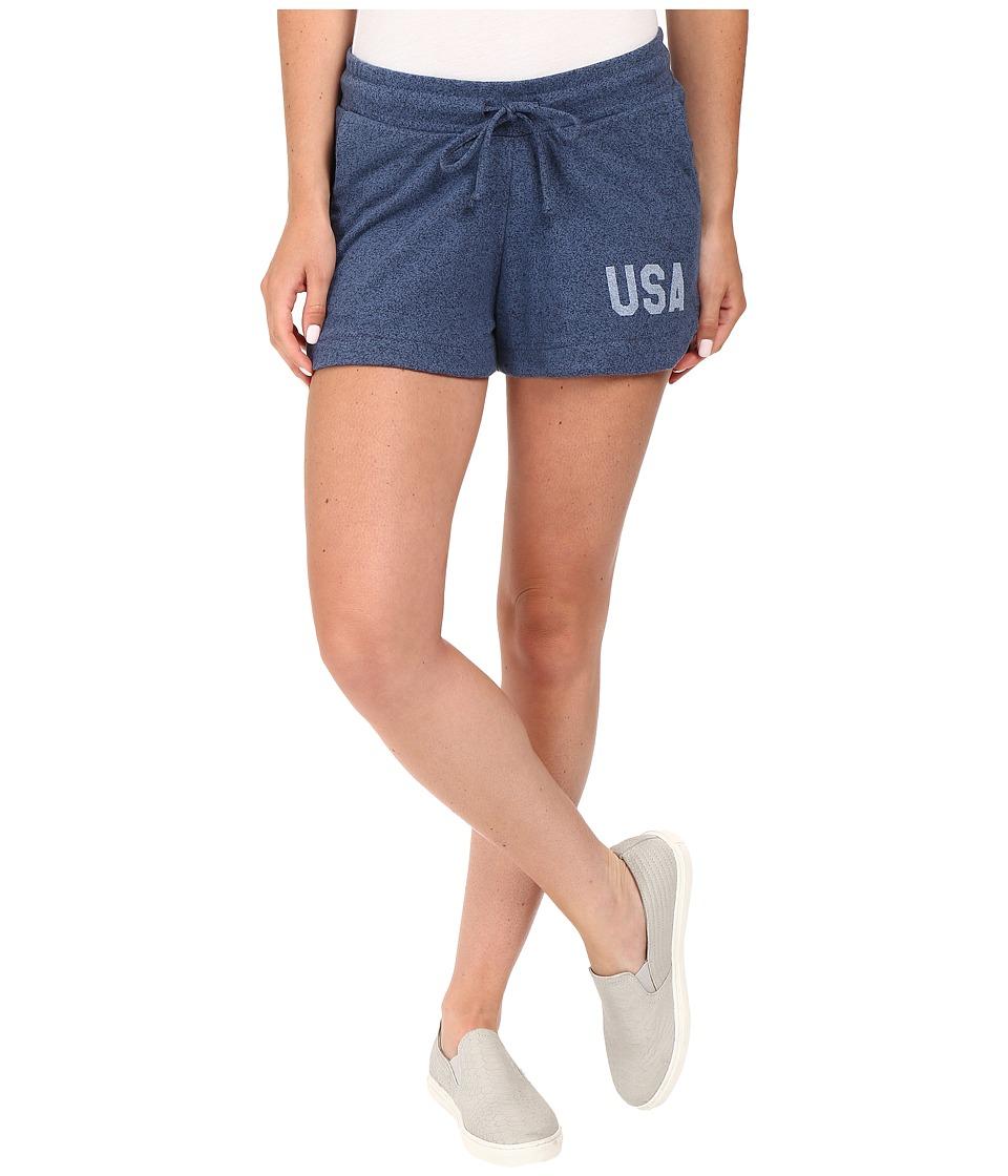 Alternative - Mock Twist Jersey Runner Shorts (USA Print Midnight) Women's Shorts