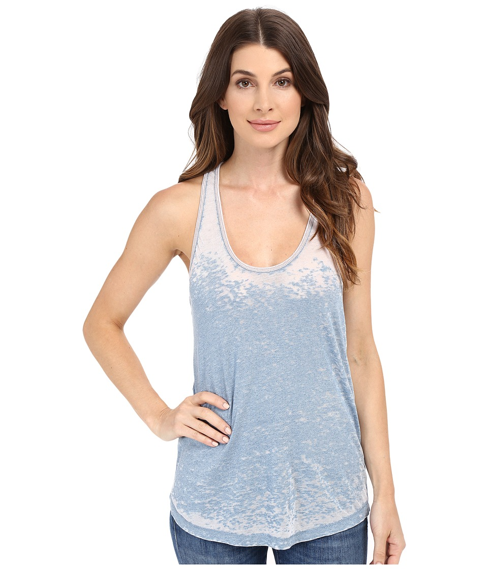 Alternative - Burnout Ringer Tank Top (Mock Storm Burnout) Women's Sleeveless