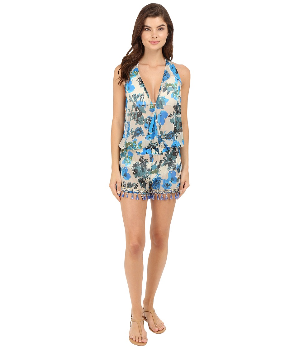 Maaji - Sapphire Reverie Cover-Up Romper (Multicolor) Women's Swimsuits One Piece