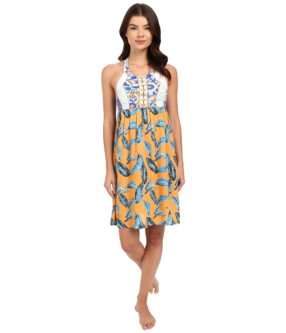Maaji Leafy Life Cover-Up Short Dress (Multicolor) Women
