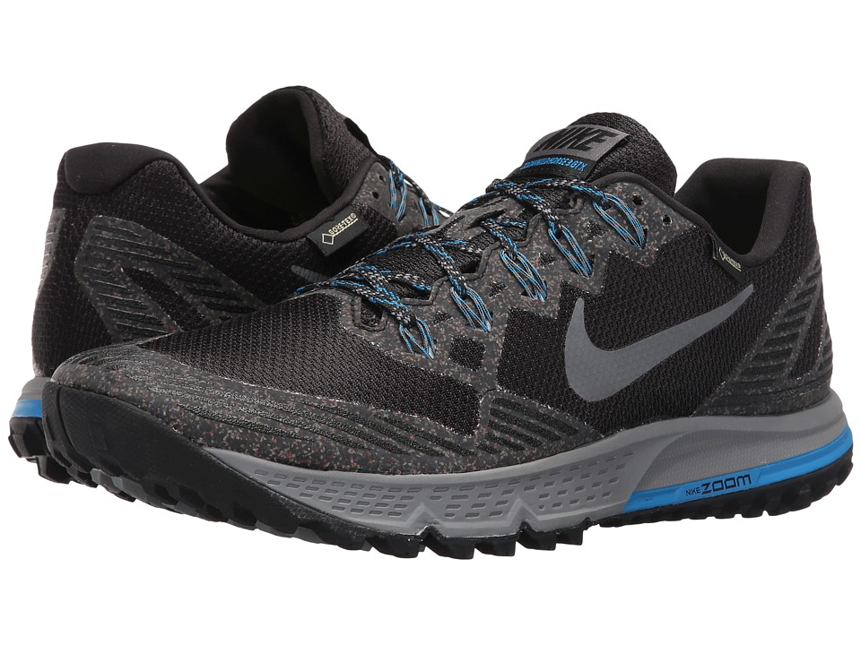 Nike - Air Zoom Wildhorse 3 GTX (Black/Dark Grey/Photo Blue/Wolf Grey) Men's Running Shoes