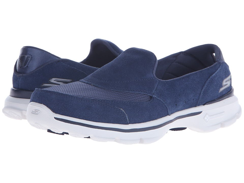 SKECHERS Performance - Go Walk 3 - Equalize (Navy/Gray) Women's Shoes