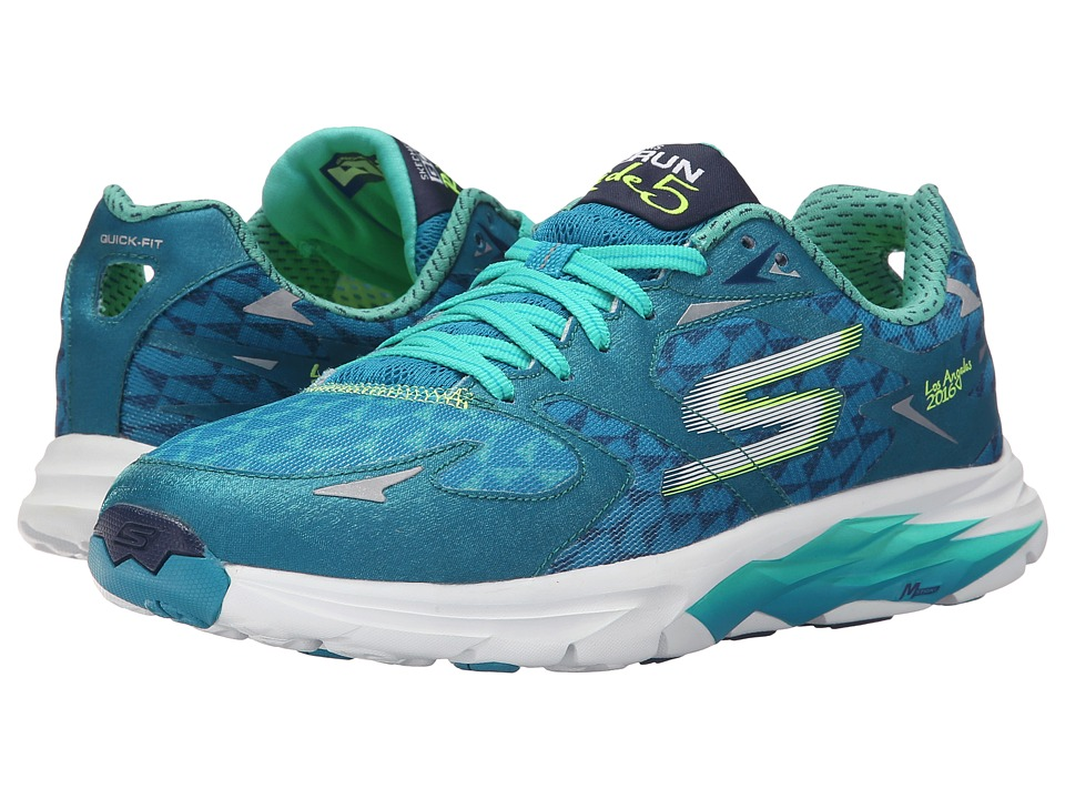 SKECHERS Performance - Go Run Ride 5 - Los Angeles 2016 (Teal) Women's Shoes