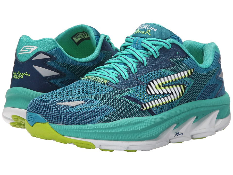 SKECHERS Performance - Go Run Ultra Ride 5 - Los Angeles 2016 (Teal) Women's Shoes