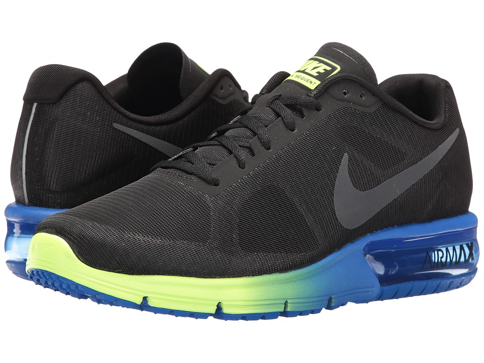 Nike - Air Max Sequent (Black/Anthracite/Hyper Cobalt/Ghost Green) Men's Running Shoes