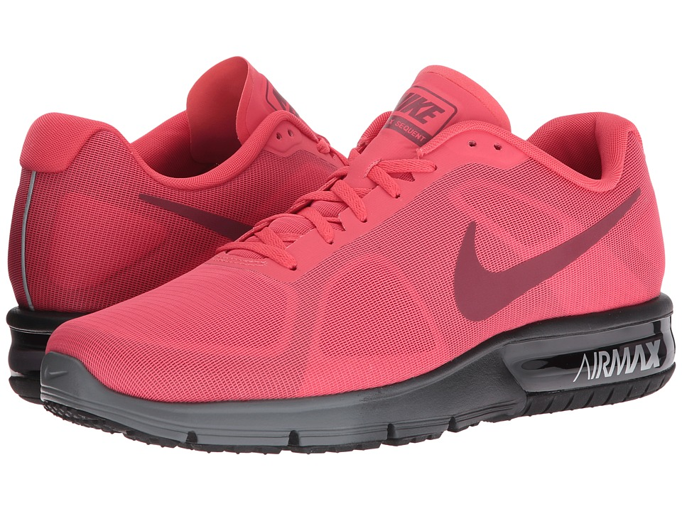 Nike - Air Max Sequent (Ember Glow/Team Red/Black/Charcoal Grey) Men's Running Shoes