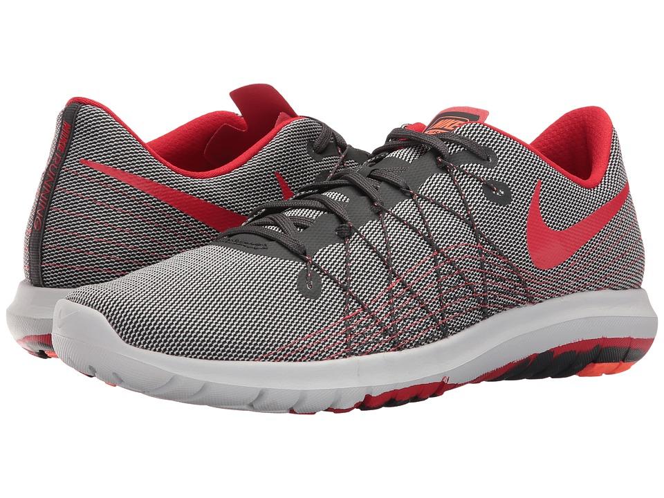 Nike - Flex Fury 2 (Anthracite/University Red/Pure Platinum) Men's Running Shoes