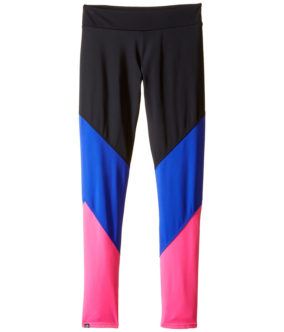 Onzie Kids - Track Leggings (Little Kids/Big Kids) (Black/Royal/Pink) Girl's Casual Pants