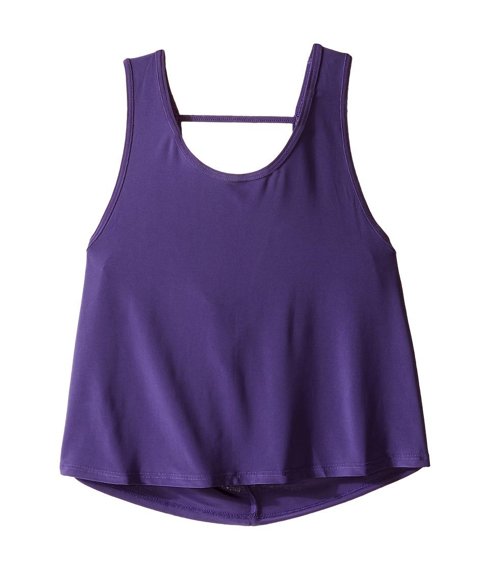 Onzie Kids - Scoop Back Tank Top (Big Kids) (Purple) Girl's Sleeveless