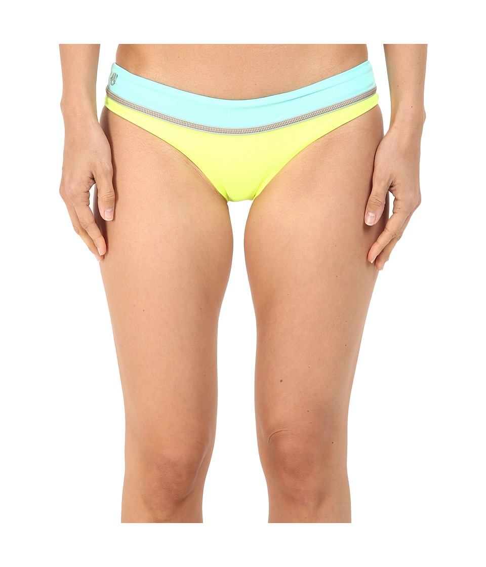 Maaji - Lime Cubism Signature Cut Bottoms (Yellow) Women's Swimwear
