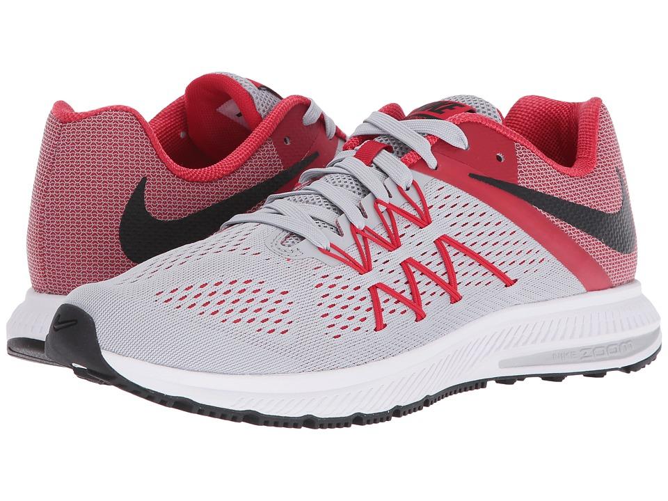 Nike - Zoom Winflo 3 (Wolf Grey/Black/University Red/White) Men's Running Shoes