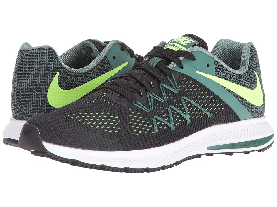 Nike - Zoom Winflo 3 (Black/Ghost Green/Green Stone/White) Men's Running Shoes