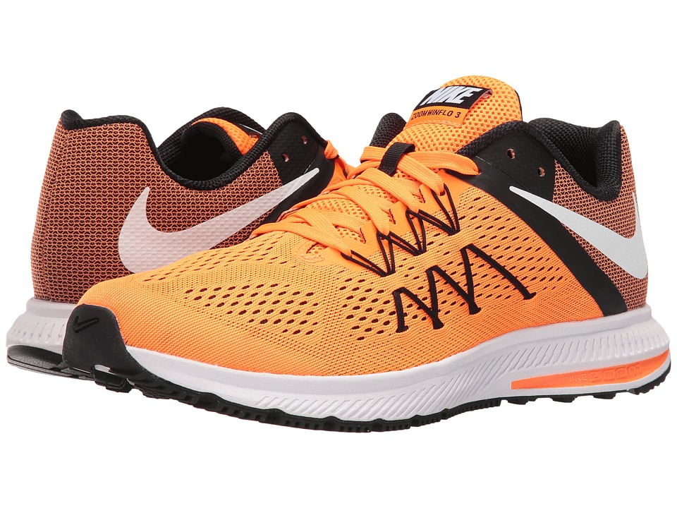 Nike - Zoom Winflo 3 (Total Orange/Black/White/White) Men's Running Shoes