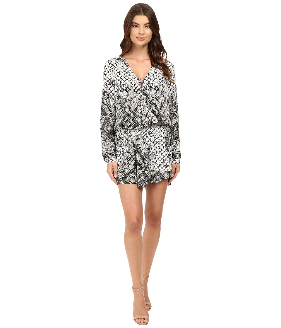 Hale Bob Animal Intuition Dress with Tie (Black/White) Women
