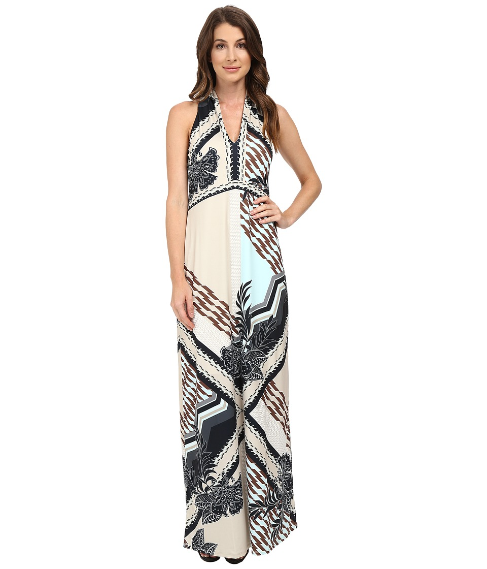 Hale Bob - Foral Disruption Maxi Dress (Beige) Women's Dress