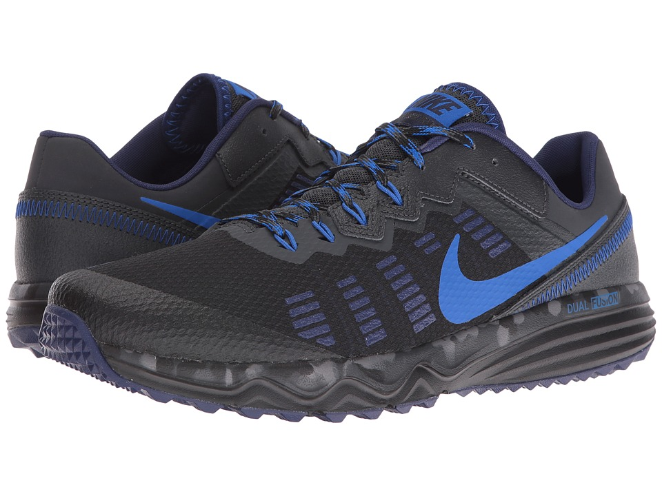 Nike - Dual Fusion Trail 2 (Black/Hyper Cobalt/Anthracite/Loyal Blue) Men's Running Shoes