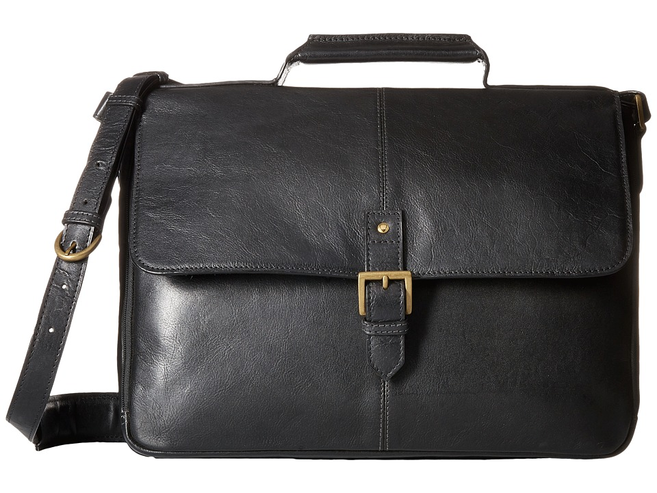 Scully - Hidesign Daniel Work Bag (Black) Handbags