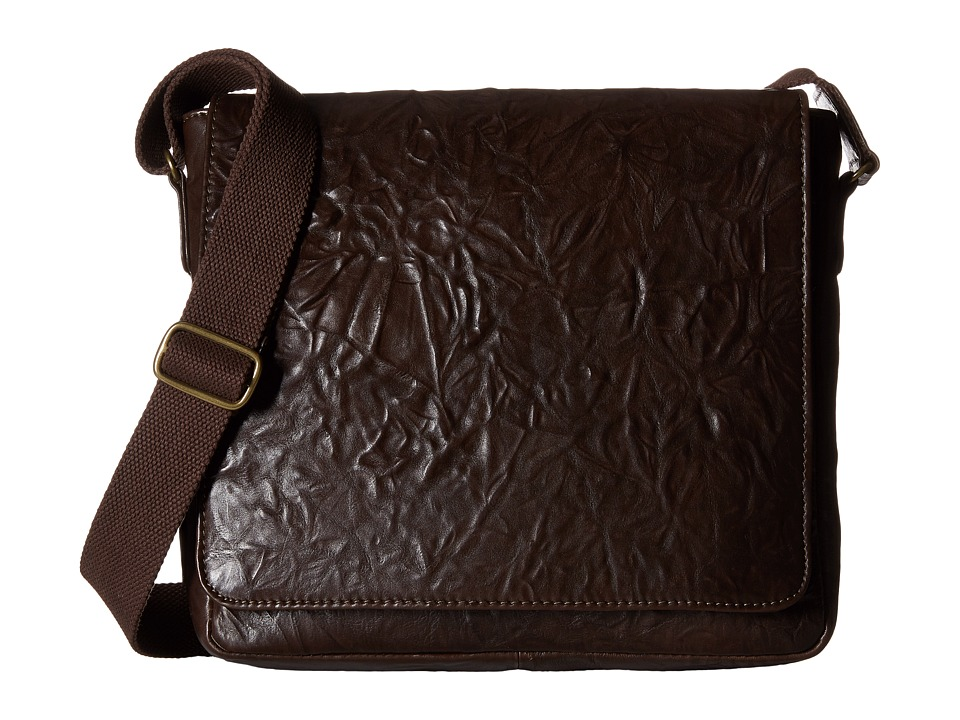 Scully - Hidesign Ade Messenger Bag (Brown) Messenger Bags
