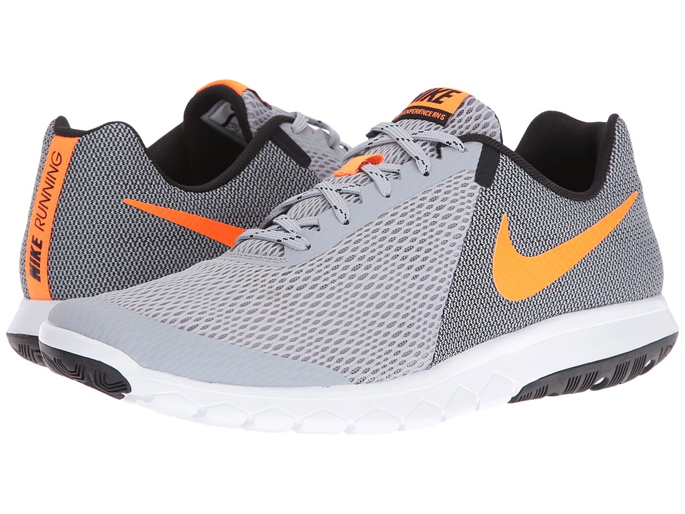 Nike - Flex Experience RN 5 (Wolf Grey/Total Orange/Black/White) Men