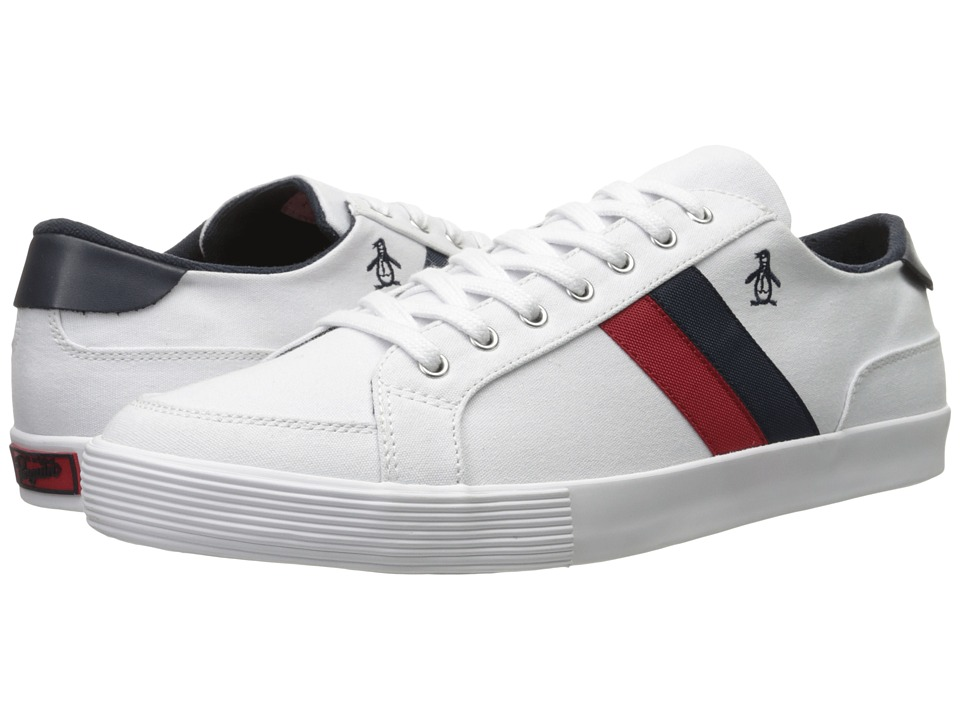 Original Penguin - Omni Canvas (White/Navy/Red) Men's Shoes