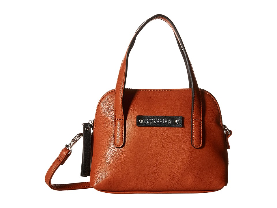 Kenneth Cole Reaction - Bondi Girl Mini Dome Crossbody (Cognac) Cross Body Handbags